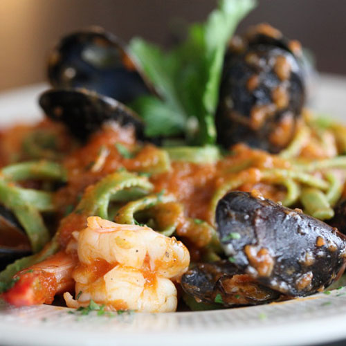 Pasta with Mussels Italian Dish
